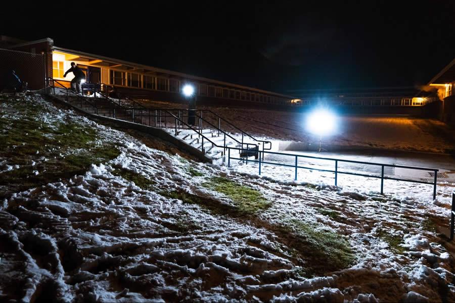 Lupe Hagearty Night Urban Skiing