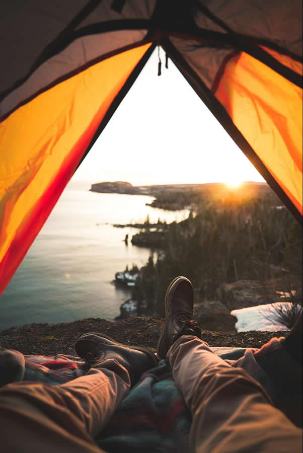 Camping is a great way to unplug and unwind