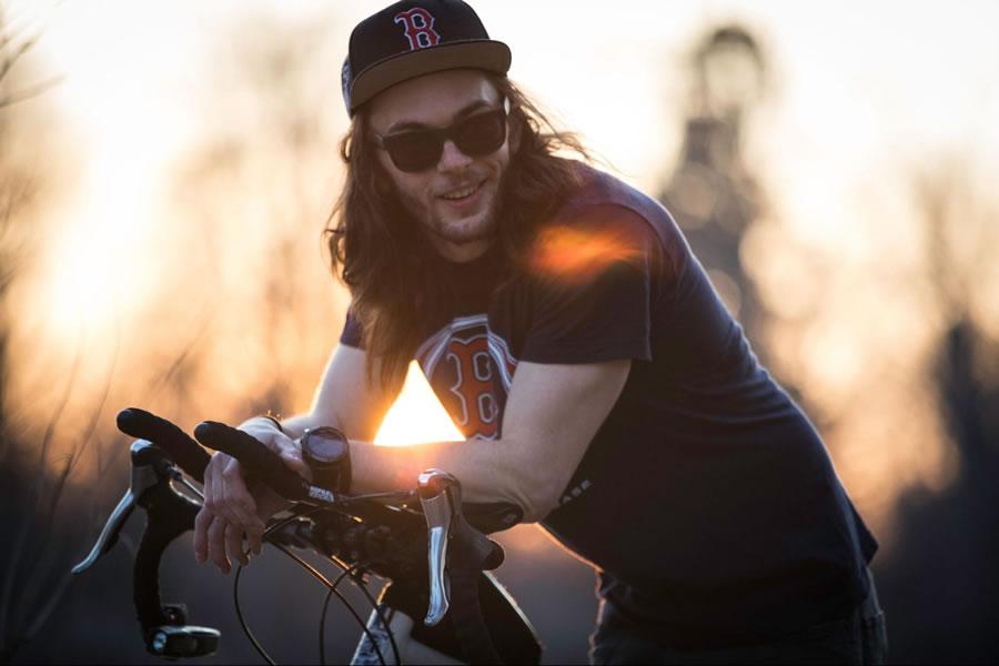Brendan Walsh Sunset After Bike Ride